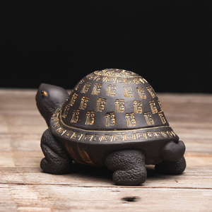 Image 5 - Creative purple clay tea Pet Tortoise yixing zisha teapot lid holder for teatray teaboard tearoom Decoration Handcrafts