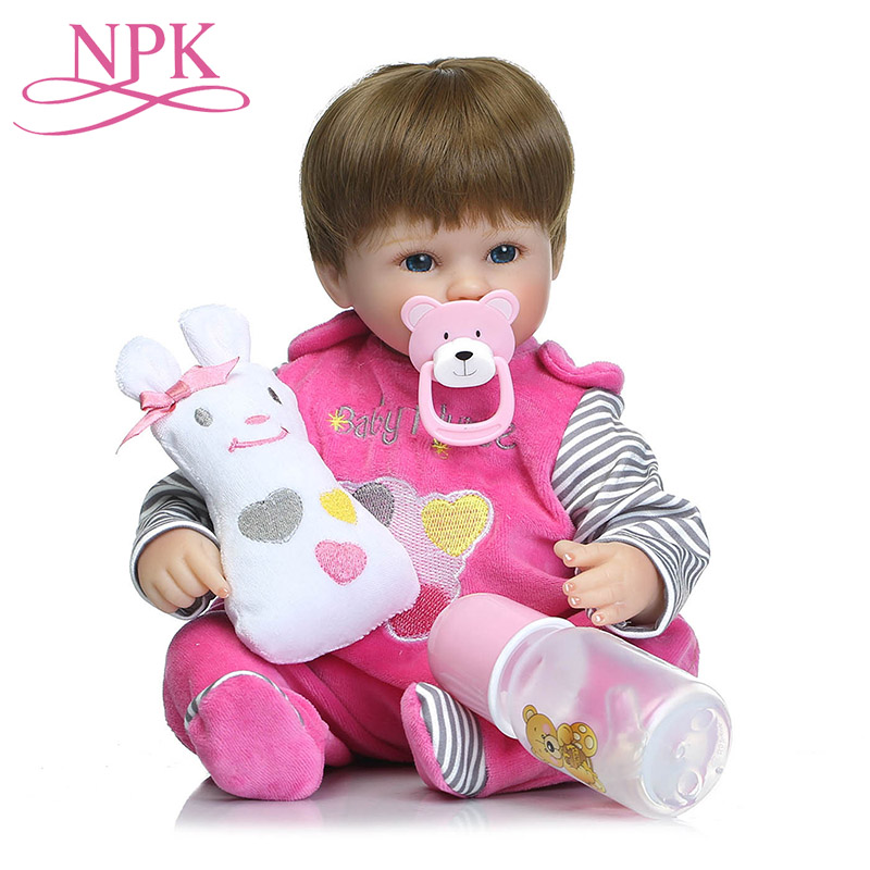 NPK Simulation Lovely Baby Doll Toys 40cm Realistic Pacifier Accompany Kid Reborn Doll For Girl Lol Baby Gift Birthday jooyooNPK Simulation Lovely Baby Doll Toys 40cm Realistic Pacifier Accompany Kid Reborn Doll For Girl Lol Baby Gift Birthday jooyoo