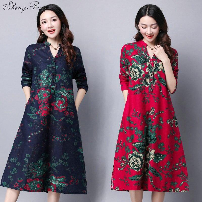 2018 зимнее китайское женское хлопковое белье cheongsam современное короткое qipao женское сексуальное традиционное платье с вышивкой V1221