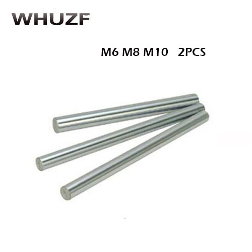 <font><b>6mm</b></font>/8mm/10mm linear shaft length 200 250 300 350 400 450 500mm chrome plated linear motion guide rail round <font><b>rod</b></font> for 3d printer image