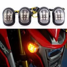 Motocicleta Vez a Luz Do Sinal 12 V LED Sinais de Volta Indicadores Universal Piscas Piscas Para MSX 125 virando luz