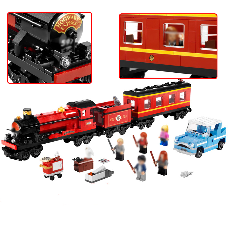 The Hogwarts Express Harry Potter Series Movie Hermione Ron Building Blocks Toys Children Compatible Legoingly Model Building аксессуар braun сетка и режущий блок 10b