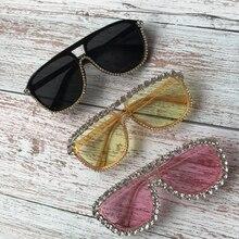 ZAOLIHU Brand 3 Colors Square Sunglasses Oversized luxury Rhinestones S