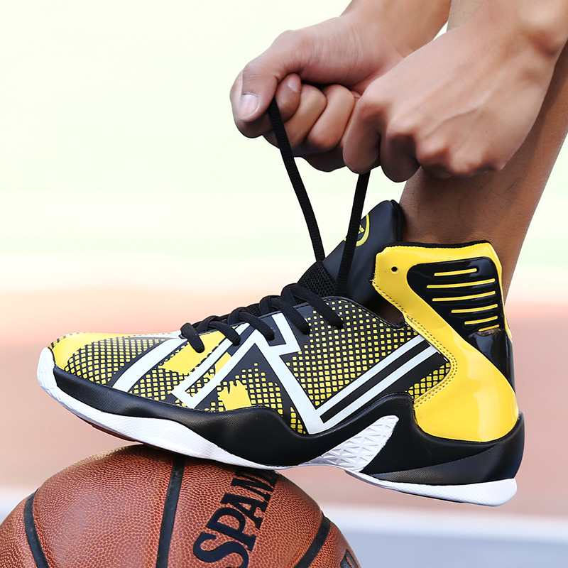 3cbba01bef72 QzsYog Big Size 39 46 Men Basketball Shoes Air Cushion High Top Sneakers  Luminous Outdoor Sport Trainers Glowing Athletic Lebron-in Basketball Shoes  from ...