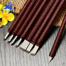 BGLN 8 unids/set cuchillo de tallado de alta calidad de aleación de acero de tungsteno sello cuchillo de Grabado tallado de piedra de madera tallado herramientas de grabado
