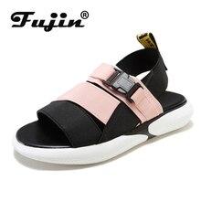 Fujin Women Shoes 2019 Summer Causal Sandals Dropshipping Female Korean Students Wild Sponge Flat Leisure