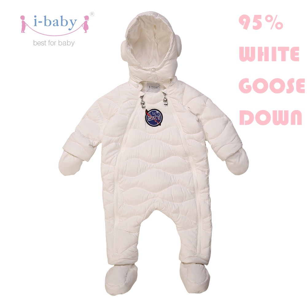 i-baby Down Coat Outlast Kids Outwear Hooded Baby Cozy Puffer Jacket with double Layers Filling for Winter women s new winter quilted jacket chunky puffer coat full zip spliced sweater hood padded outwear with knit sleeve