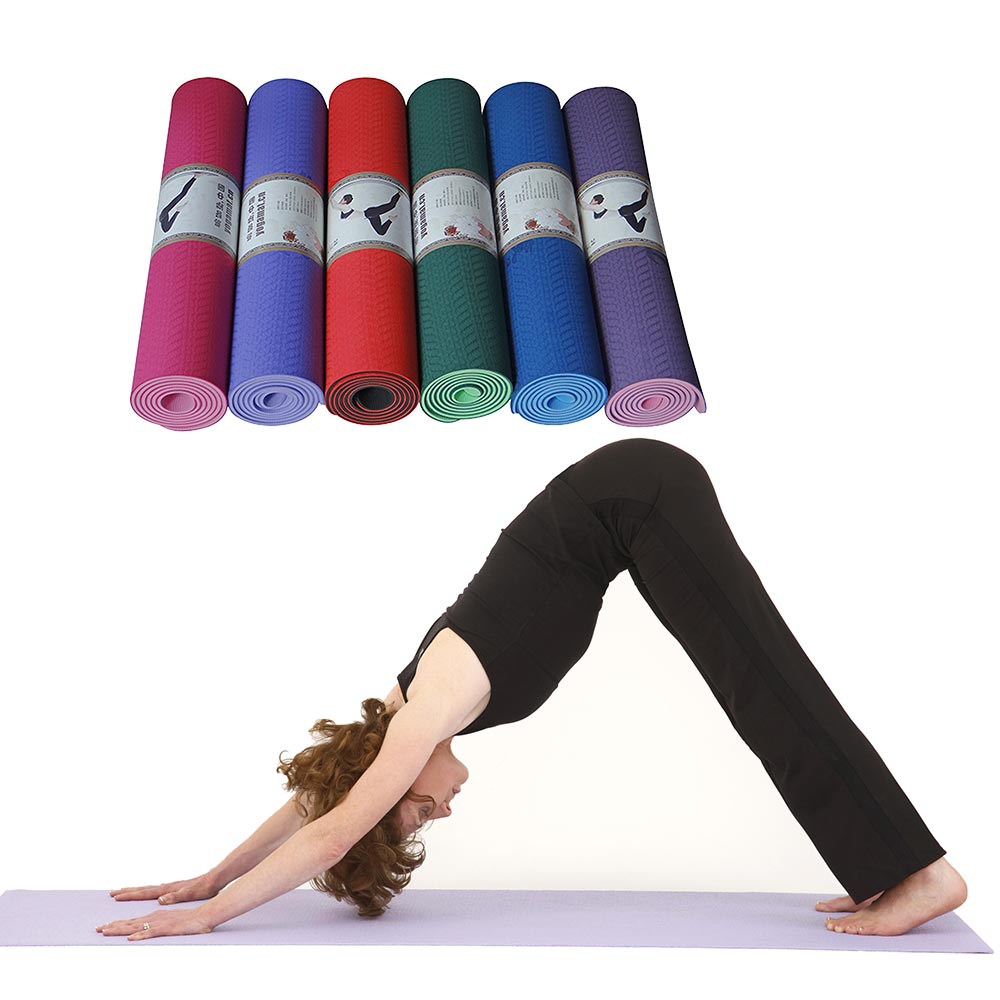 TOP Quality 183x61x0.6cm None Slip Yoga Mat TPE With Bag