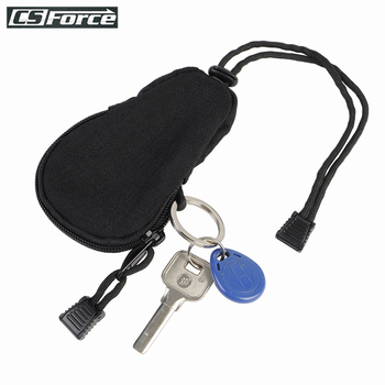 цена на Mini Outdoor Key Pouch EDC Carrying Bag Portable Key Change Purse Organizer Wallet with Inner Stainless Key Ring Travel Tool Bag