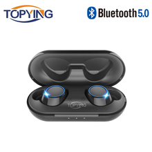 TOPYING TWS Wireless Bluetooth 5.0 Sports Earphone Stereo Earbuds bluetooth Headset with Charging Box with Mic for Huawei Xiaomi bluetooth 5 0 earphone earbuds stereo music headset sports headphone with charging box for iphone 5 6 7 se xiaomi huawei samsung