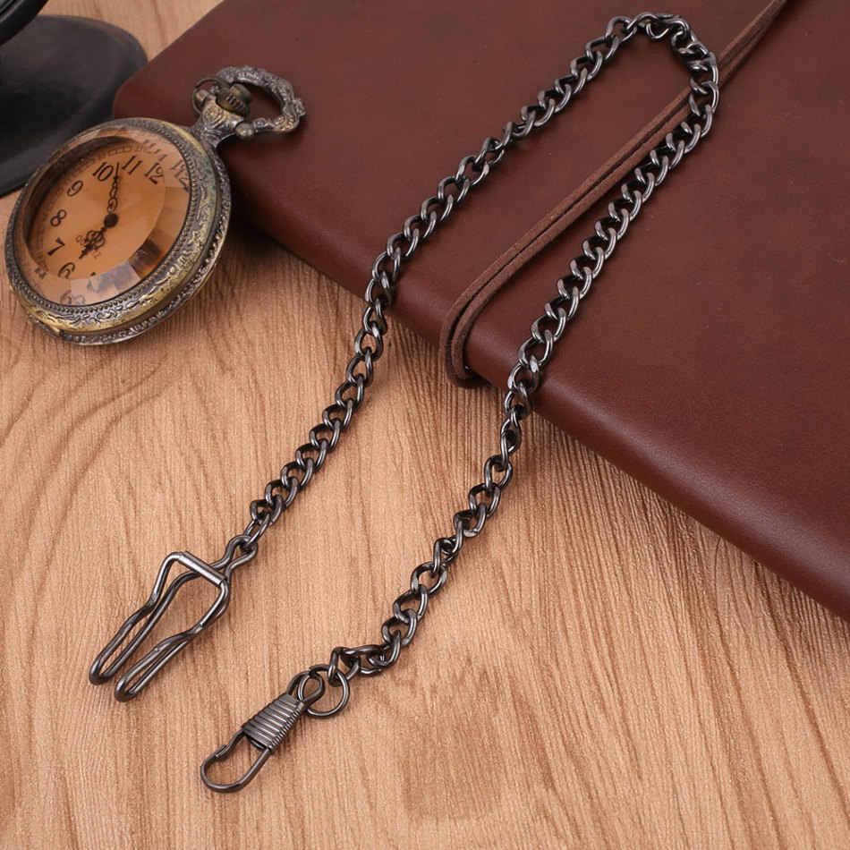 לבן/שחור/ירוק ברונזה/זהב/אדום ברונזה סגסוגת שעון כיס בציר שרשרת שעון כיס מחזיק שרשרת שרשרת