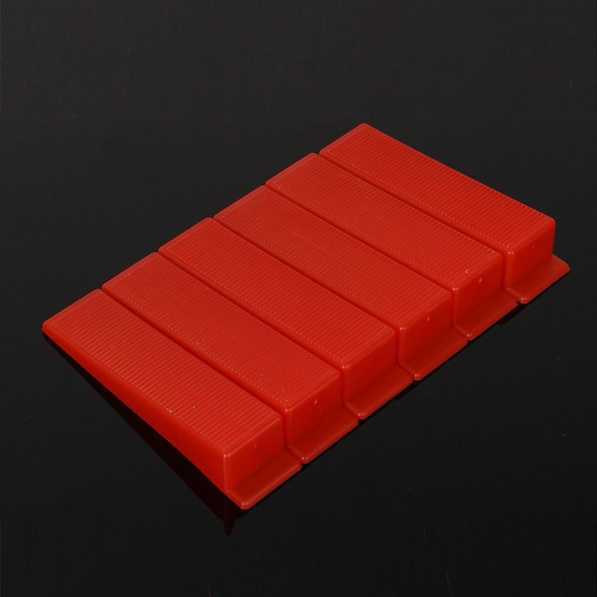 где купить  50pcs/set Red Wedges for Tile Leveling System Plastic 88x22mm For Floor tiles and wall tiles Spacers Tiling Tools Favorable  по лучшей цене