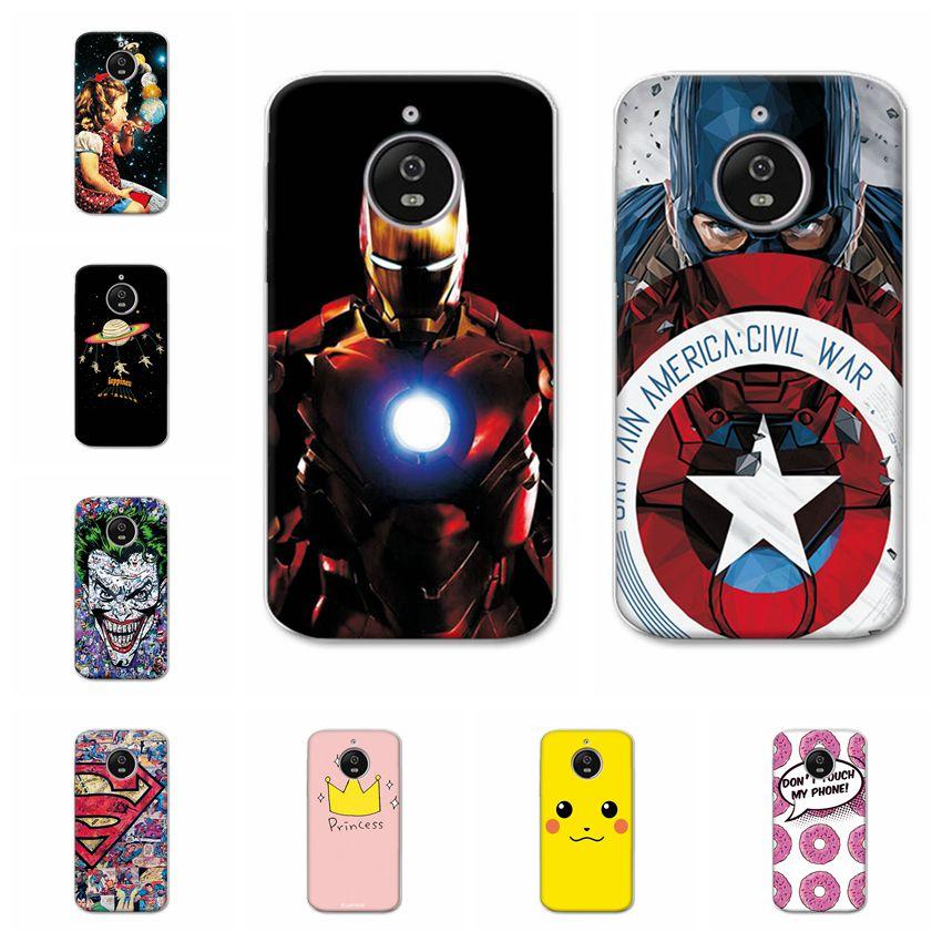 "Ample Captain America Cases For Motorola Moto E4 Plus Soft TPU Phone Case Fundas For Moto E4 Plus E 4 Plus Capa Back Cover 5.5"""
