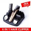 6 In1 máquina de corte de pelo clipper trimmer de Pelo de la barba trimmer máquina de corte máquina de corte de pelo peluquero