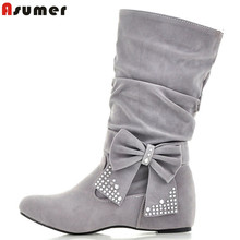 women snow boots new 2016 fashion warm ankle rhinestone autumn boots winter women's shoes woman causal #Y1147556F