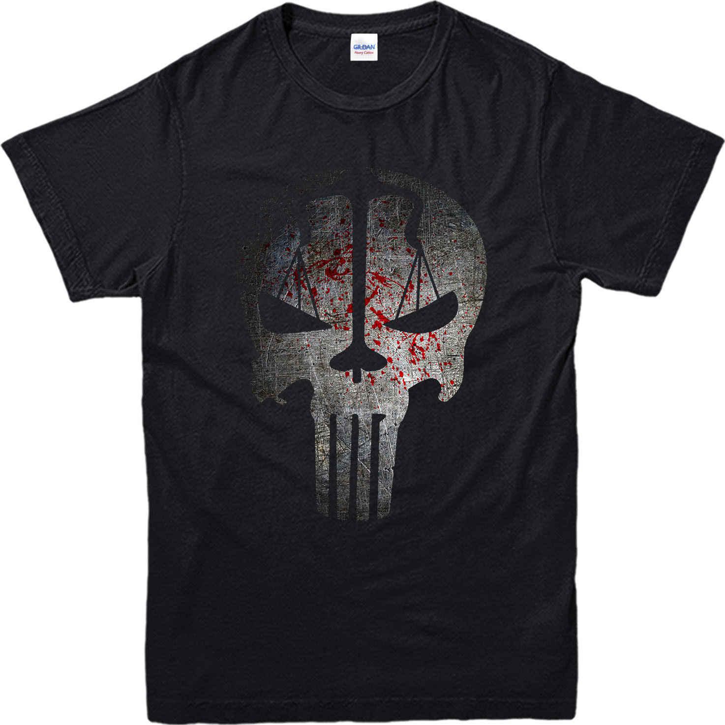 Waaghals T-Shirt, punisher schaal Schedel Feestelijke Gift Unisex Adult & Kids Tee Top2019 modieuze Merk 100% katoen Gedrukt Ronde N