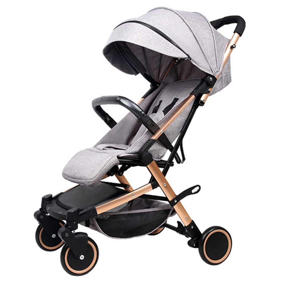 Baby strollers ultra-lightweight folding umbrella car can sit ultra-light portable on the airplane