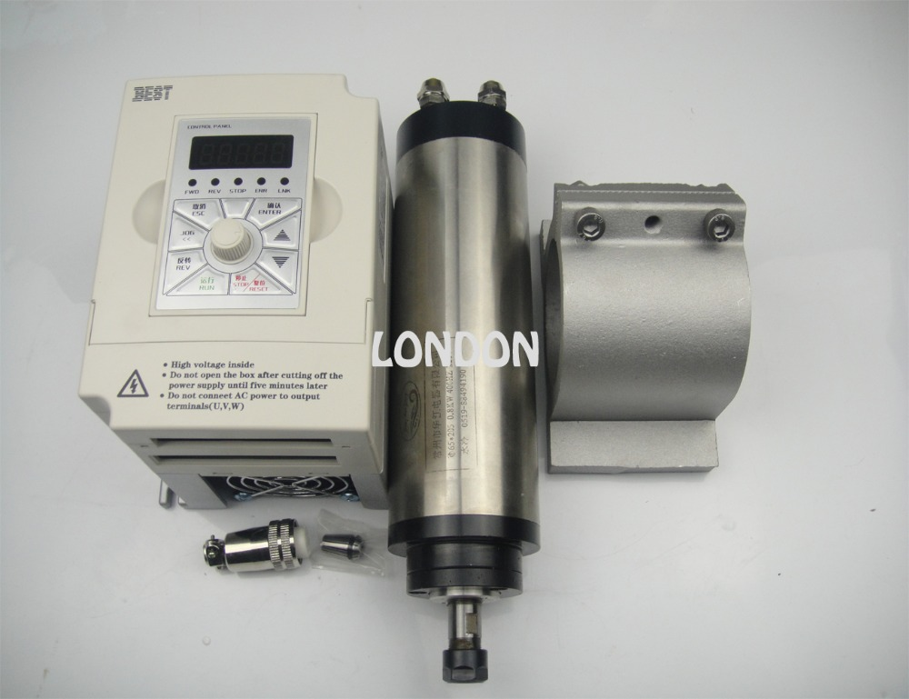 کیت اسپیندل CNC موتور اسپیندل خنک کننده آب + اینورتر 1.5 کیلو وات + پشتیبانی دوک نخ ریسی