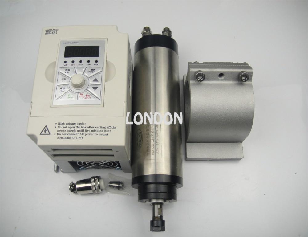Kit de husillo CNC ER11 800w motor de husillo de refrigeración por agua + inversor de 1.5KW + soporte de husillo