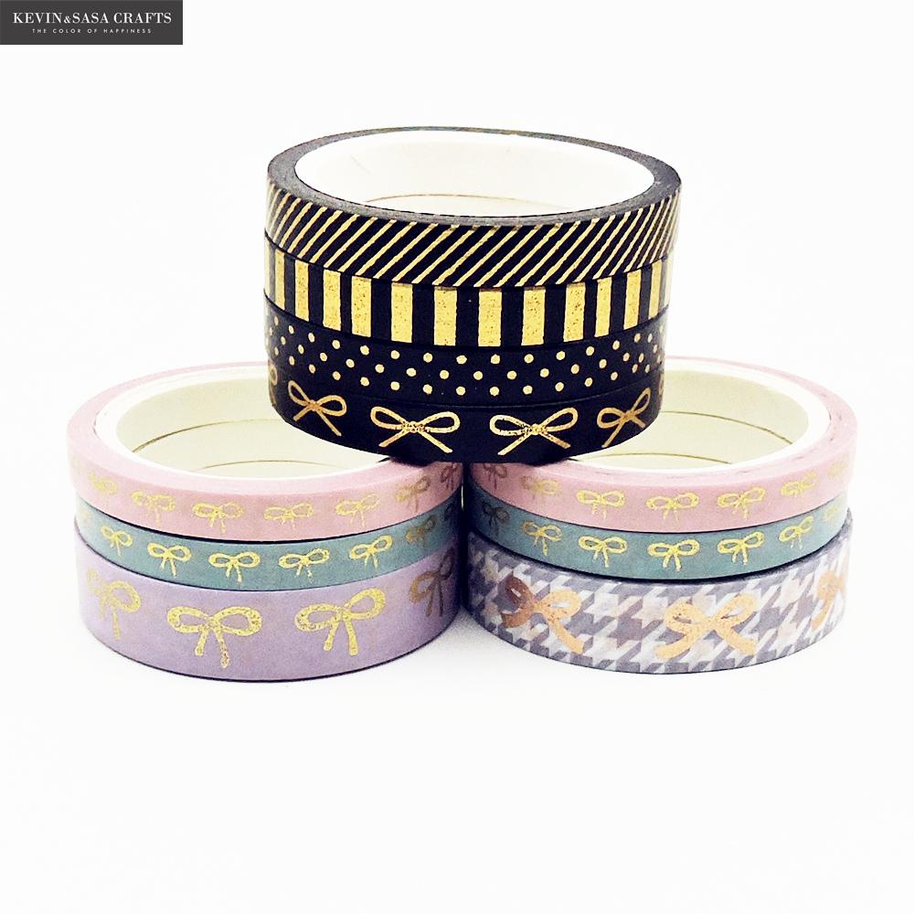 3-4Pcs/Set Bow Foil Washi Tape Stationery Diy Scrapbooking Photo Album School Tools