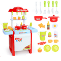 New Arrival 6663F Children Large Kitchen Toy House Simulation Boy Girl Cooking Cook Baby Tableware  Kitchen For Kids education