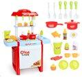 Nova Chegada 6663F Crianças Grande Casa de Brinquedo de Simulação de Cozinha Cozinhar Cozinheiro Cozinha Utensílios de mesa Do Bebê Da Menina do Menino Para As Crianças da educação