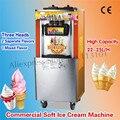 Вертикальное мягкое устройство для мороженого  машина для мороженого  машина для мороженого  три вкуса  220 В 22 ~ 25 литров/ч  новый бренд