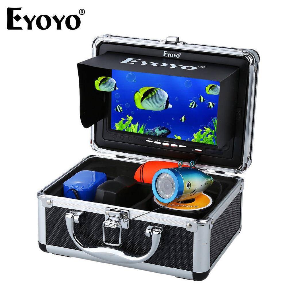 Eyoyo 1000tvl 15M Fish Finder underwater fishing camera hd Video Camera 7 Color Monitor cam fish