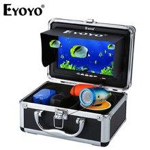 """Eyoyo 15м профессиональная камера рыбоискатель подводная рыбалка видео """" цветной монитор 1000TVL HD камера 12 шт. инфракрасные светодиоды"""