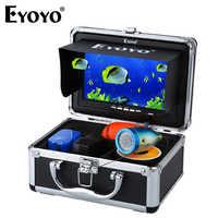 Eyoyo EF07B 1000tvl Fish Finder pesca subacquea della macchina fotografica hd Video Macchina Fotografica 7 Monitor a Colori cam di pesce 12pcs A Raggi Infrarossi lampada Per Il Ghiaccio