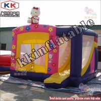 Hot sale cheap commercial giant kids jumping bouncer house combo bouncy house with slide