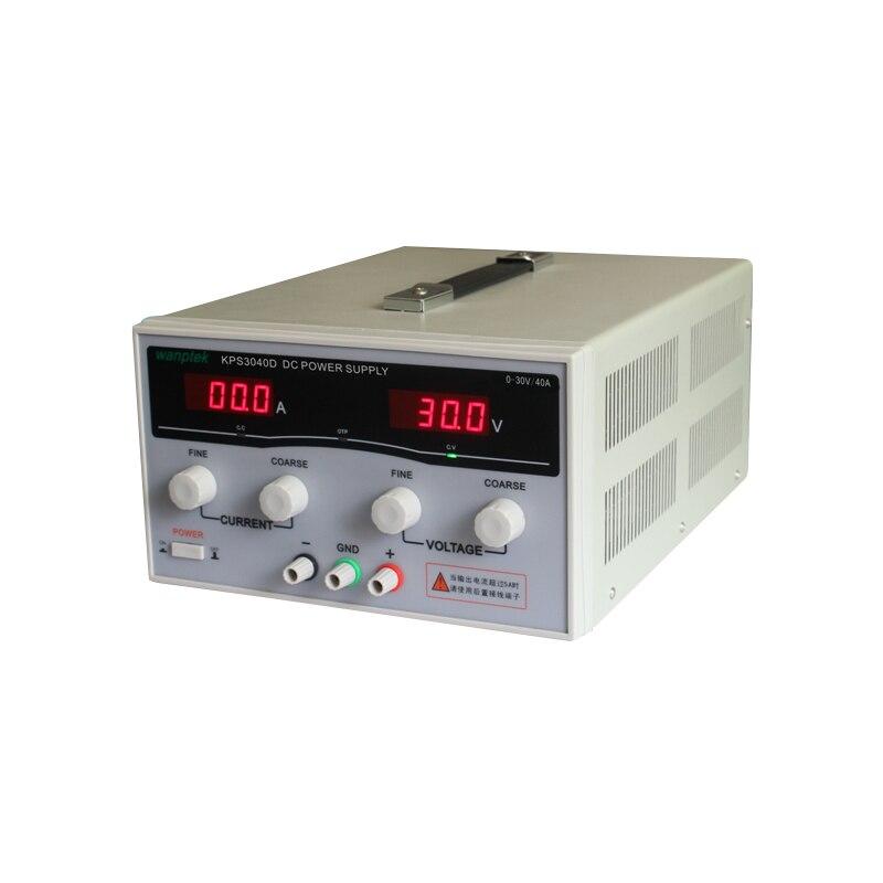 KPS3040D High precision High Power Adjustable LED Dual Display Switching DC power supply 220V EU 30V/40A kps6010d high precision high power adjustable led dual display switching dc power supply 220v eu 60v 10a