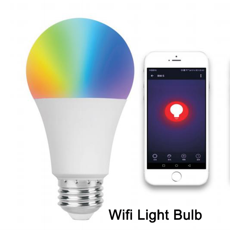 E27 RGB LED מנורת אור נורות, 9 w Dimmable Wiif חכם הנורה, חיסכון באנרגיה שלט רחוק חכם בית אוטומציה מודול Alexa