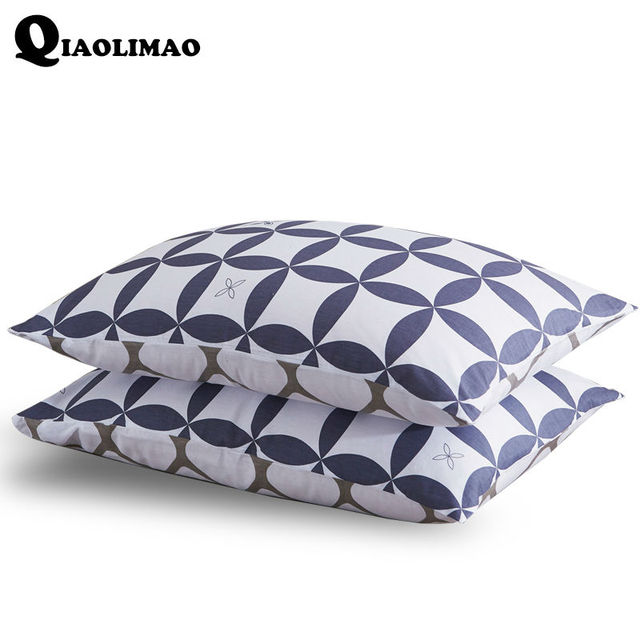 New 100% Cotton Bedding Pillowcase Factory Stock Printing Striped Pillow Case For Sleeping Use Pillow Cover 74*48cm (23 designs)