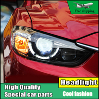 High Quality Car Styling For Mazda Atenza Mazda6 Headlights 2014 2016 LED Headlight DRL Lens Double