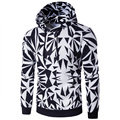 2017 Men Hoodies Pullover Irregular Diamond Printing Sweatshirt Tracksuit Hip Hop Male Hooded Sweatshirt Slim Fit Men Hoody
