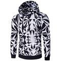 2017 Men Hoodies Pullover Irregular Diamond Printing Sweatshirt Tracksuit Hip Hop Male Hooded Sweatshirt Slim Fit Men Hoody