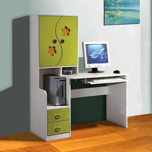 SUNTEAM White Minimalist Fashion Assembled Desktop Computer Desk With  Bookcase Bookcase Combination Of Home Bedrooms Desk