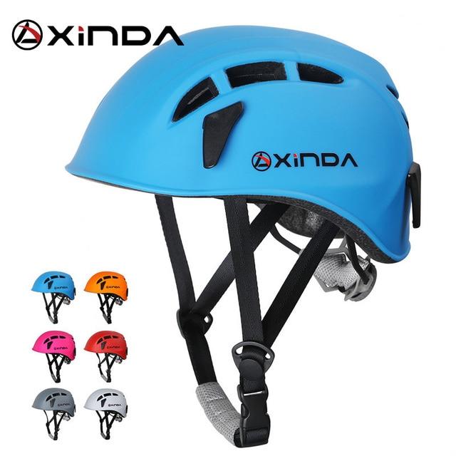 Équipement de sauvetage de montagne de spéléologie de casque de descente descalade extérieure de Xinda pour élargir le casque de travail de spéléologie de casque de sécurité