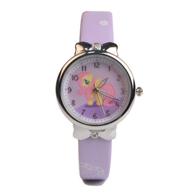 Baosaili Popular Cute Girl Ladies Watch Kids Watches Horse Leather Quartz Studen