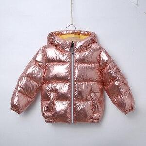 Image 4 - HH בני מעילי חורף מעיל ילדים למטה כותנה מעיל עמיד למים חליפת שלג ורוד זהב כסף מעיל סלעית parka בנות למטה מעילים