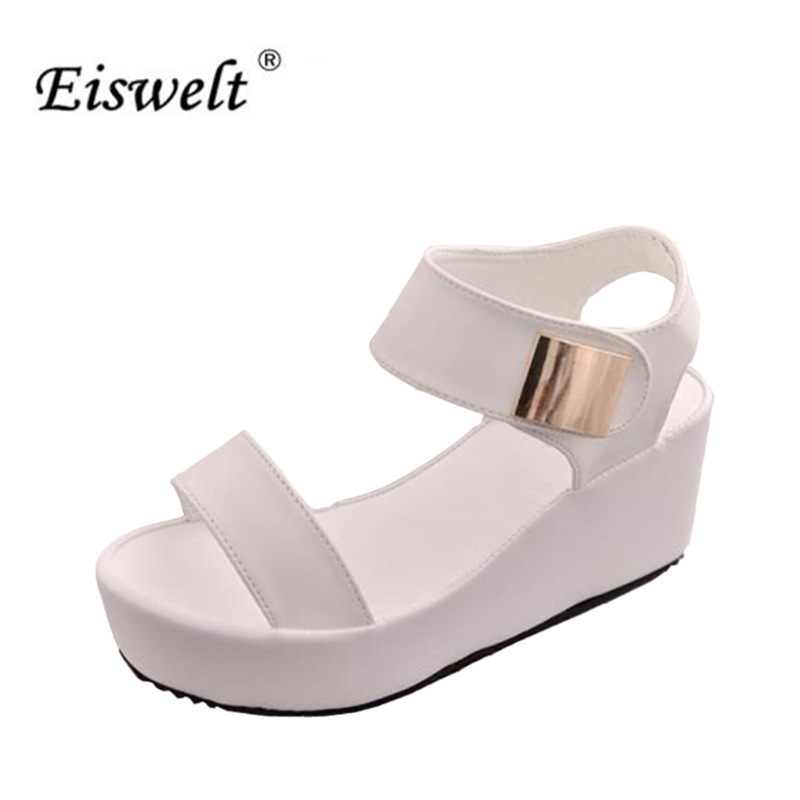 EISWELT 2017 New Women Wedges Sandals Women's Platform Sandals Fashion Summer Shoes Women Casual Shoes Free Shipping#LQ145 phyanic 2017 gladiator sandals gold silver shoes woman summer platform wedges glitters creepers casual women shoes phy3323