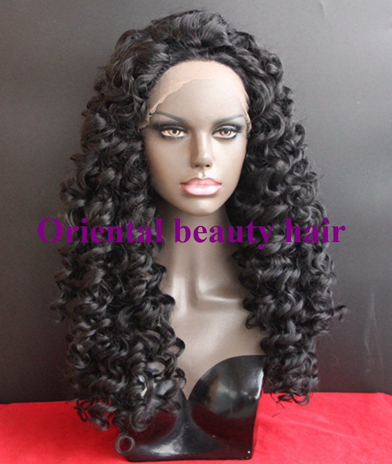 Free shipping cheap long Black #1b color afro kinky curly ...