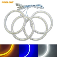 FEELDO 4Pcs/Set Auto SMD Angel Eyes Light Halo Ring For FIAT Grande Punto Headlight Lamp #AN1088