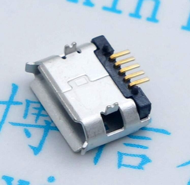 Micro usb charging the mobile phone usb socket pins long needle Pin plating braid