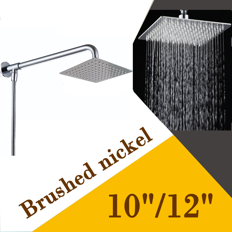 Brushed Nickel 10 12 inch Rainfall Showerhead Wall Mount Stainless Steel  Shower Arm with ShowerOnline Get Cheap 12 Shower Arm  Aliexpress com   Alibaba Group. 12 Inch Rain Shower Head Brushed Nickel. Home Design Ideas
