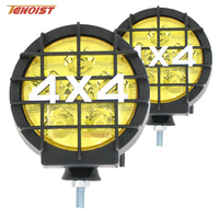 New 2PCS 6 Inch 30W LED Font Bumper Dome Fog Light For Offroad 4 4 SUV