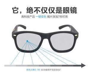 Image 3 - From RU 2018 LCD Sunglasses Polarized Sunglasses Men Adjustable Darkness with Liquid Crystal Lenses Original Design Magic