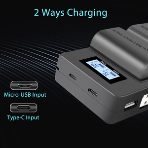 Image 2 - LP E6 LPE6 LP E6 E6N Battery Charger LCD Dual Charger For Canon EOS 5DS R 5D Mark II 5D Mark III 6D 7D 80D EOS 5DS R Camera