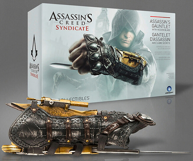 Hot ! NEW Assassins Creed Syndicate 1 to 1 Pirate Hidden Blade Edward Kenway Cosplay New in Box toy Christmas gift ckxt6 assassins creed hidden blade assassins creed unity phantom bladecrossbow pirate hidden blade edward kenway cosplay anime w189